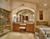 48-shambala-estate_guest-suite-1-private-bath-deep-whirlpool-tub-sep-glass-shower-2-717x600
